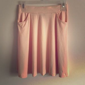 NWT ASOS Peach Skater Skirt w/ Pockets, Size 4